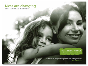 2013-Sheltering-Wings-Annual-Report-Cover
