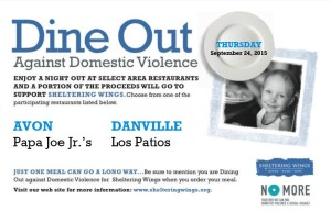 Dine Out Against Domestic Violence @ Papa Joe's Jr. - Avon & Los Patios - Danville