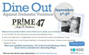 Dine Out Against Domestic Violence @ Prime 47 | Indianapolis | Indiana | United States